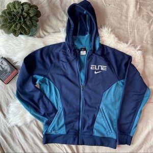 NIKE Blue Elite Therma-Fit Hoodie Jacket Medium